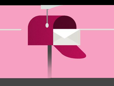 Uma caixa de correio representando a caixa de entrada de email