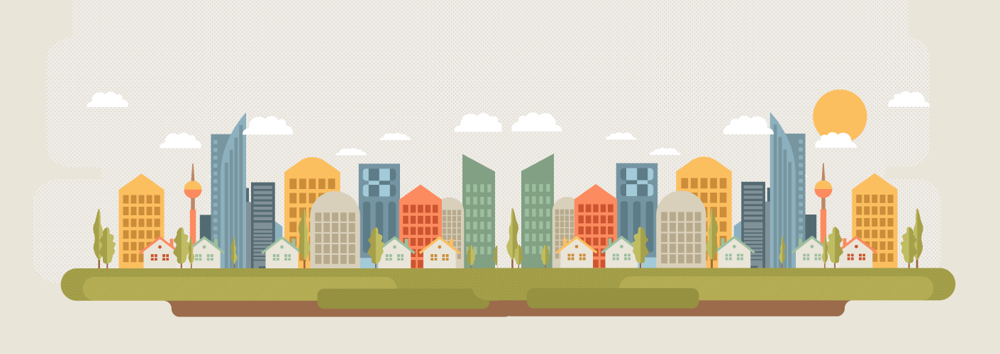 imagem de uma cidade demonstrando o mercado de eventos e o dimensionamento economico da industria de eventos
