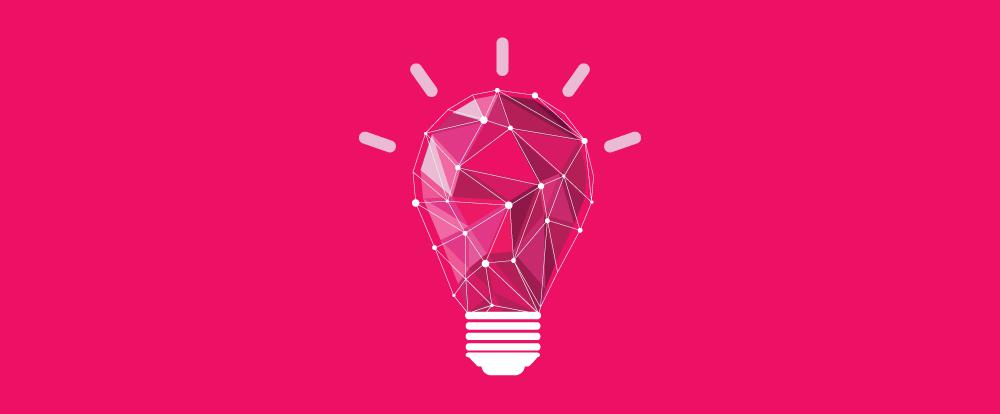 imagem de uma lâmpada representando uma ideia em seu evento