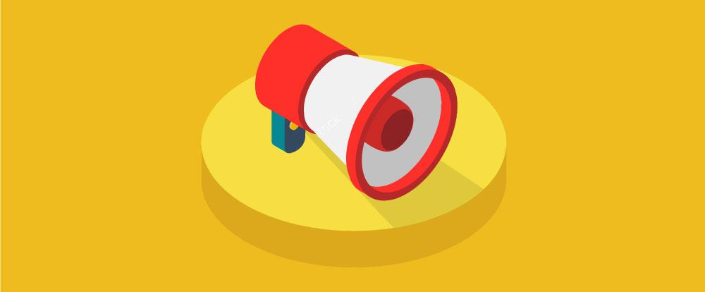 imagem de um megafone