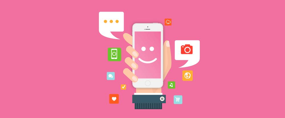 imagem representando a coleta de dados em eventos com um aplicativo