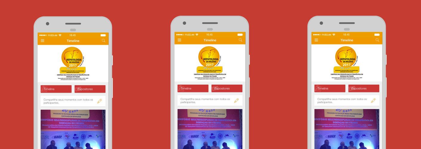imagem do aplicativo utilizado pelo evento da hepatologia do milenio