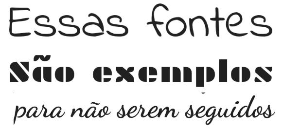 diferença entre os tipos de fontes