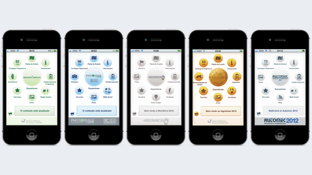 imagem dos primeiros aplicativos feitos pela mobLee