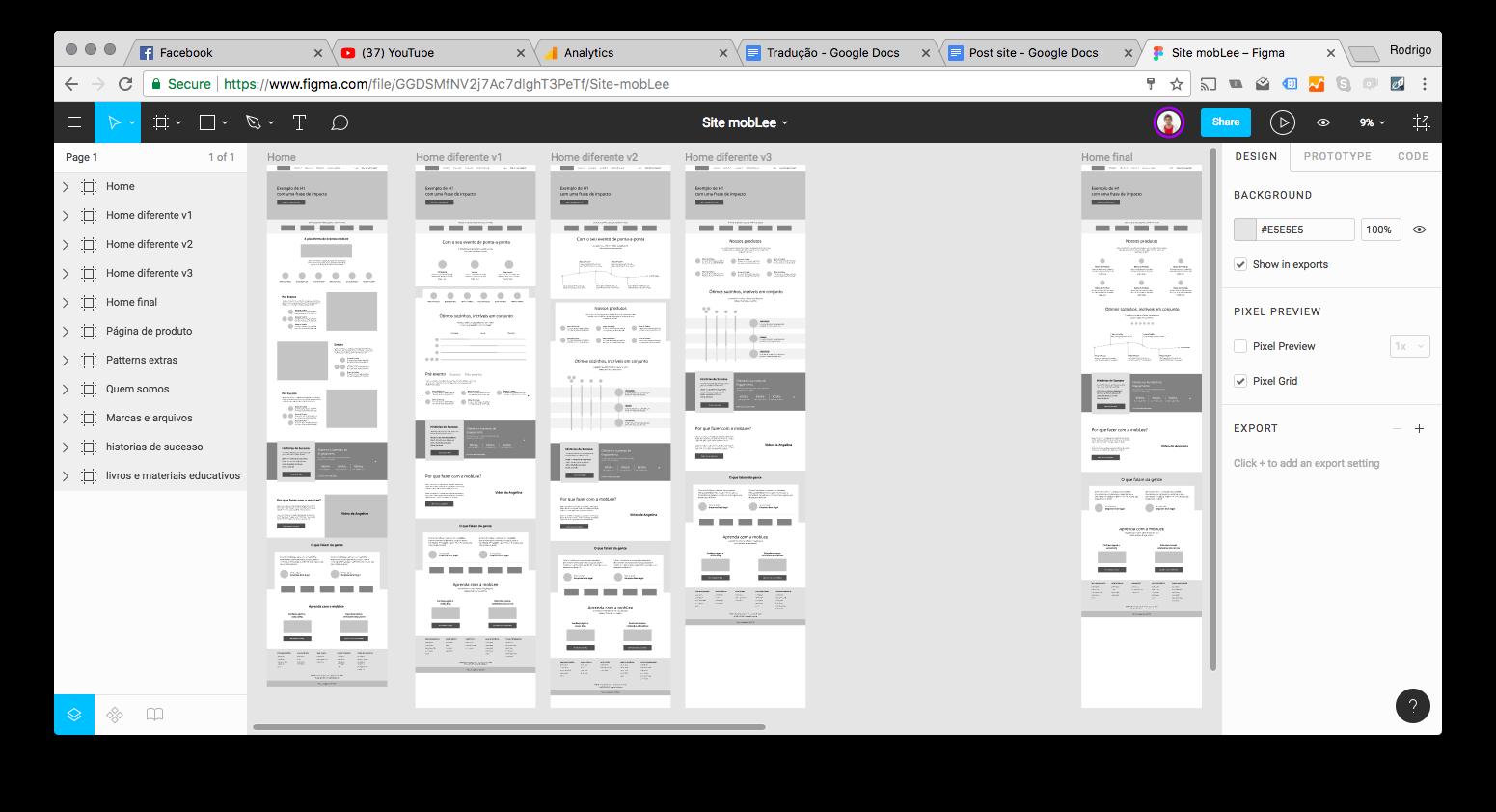 imagem do protótipo do novo site da mobLee