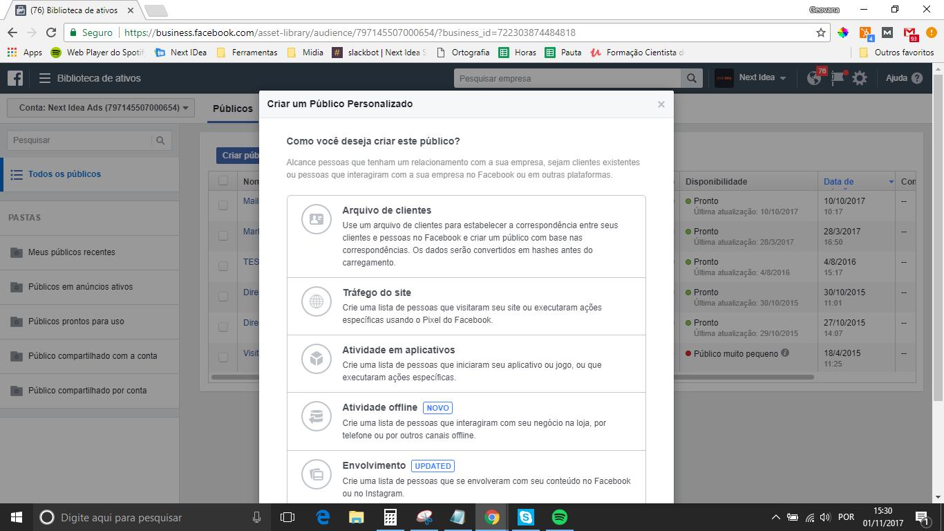 imagem para iniciar a criação personalizada no facebook