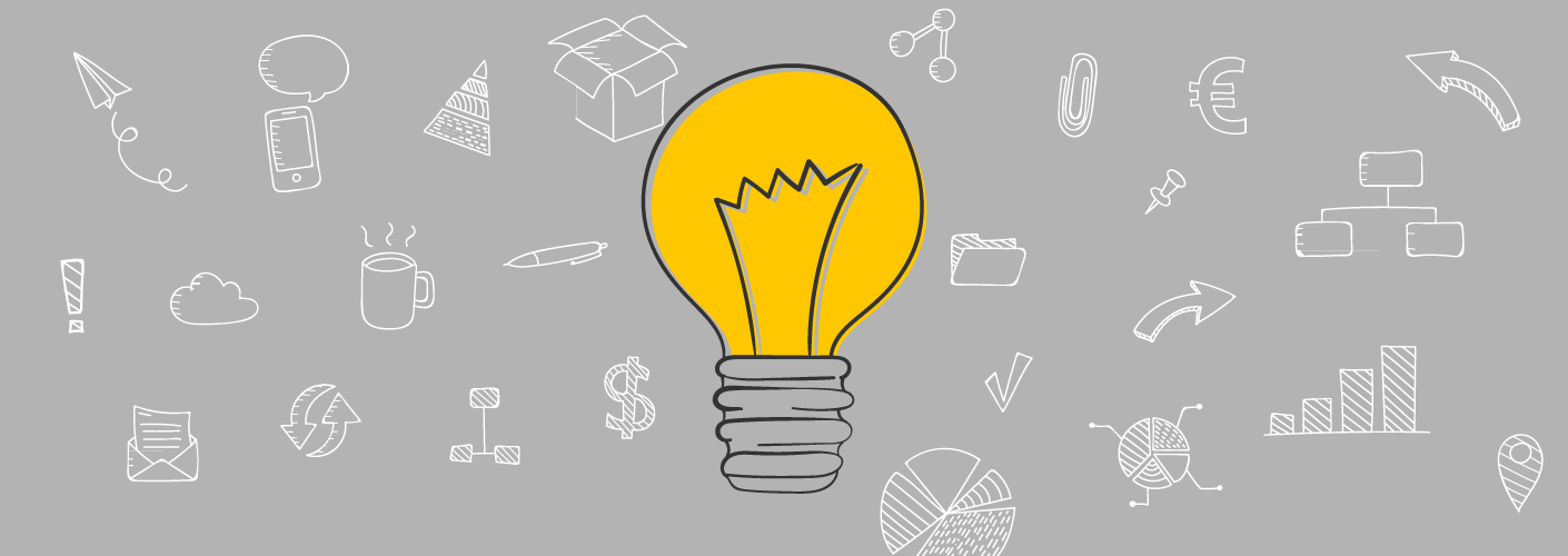 imagem representativa de uma lâmpada (ideia) com inumeras coisas atrás, referente ao que tens que ir atras antes do big data
