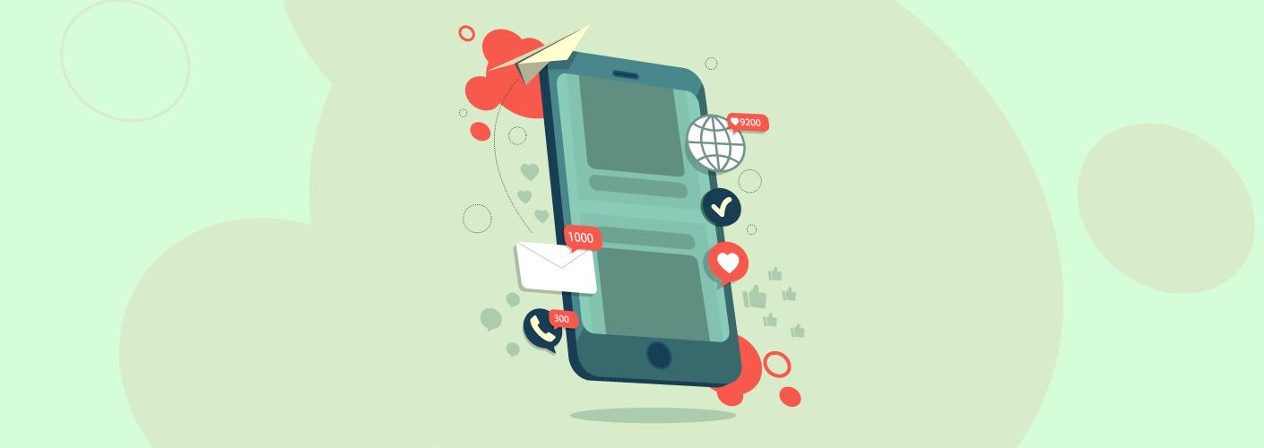 imagem do celular representando o marketing de conteudo em eventos