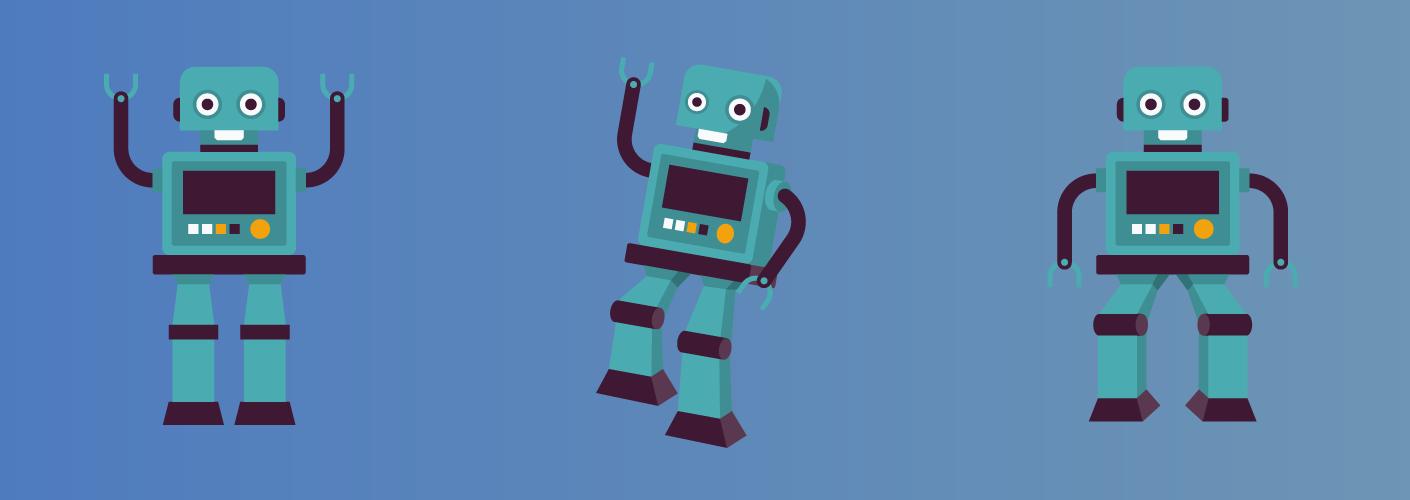 imagem da inovação tecnológica sendo representada por robôs