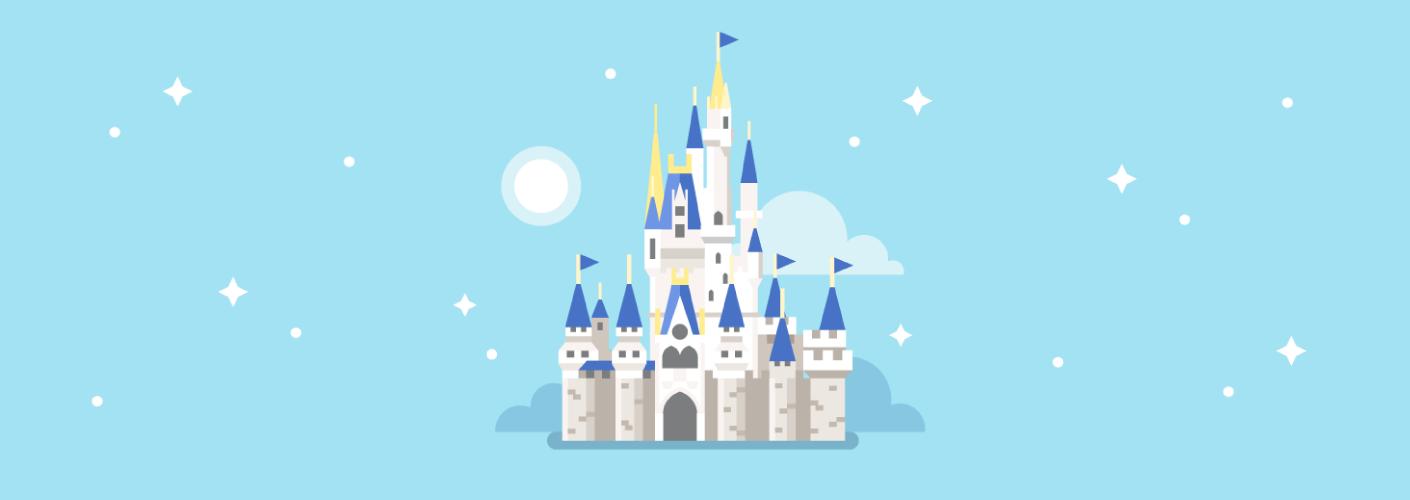 imagem do castelo da disney que remete a magia de encantar clientes