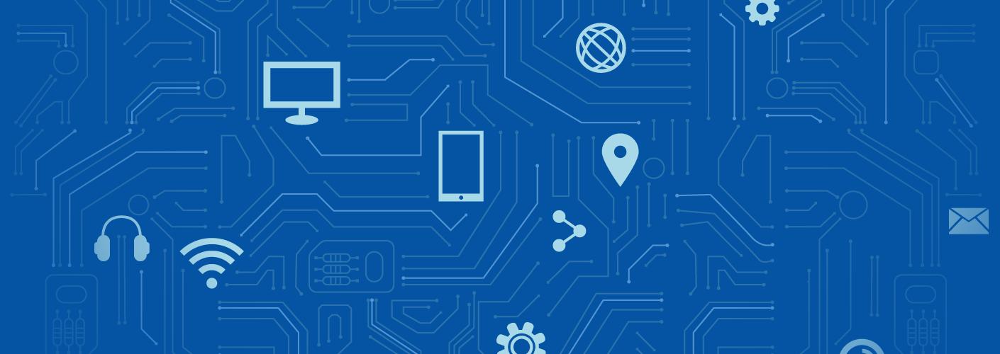 imagem representando a tecnologia e softwares no mercado de eventos