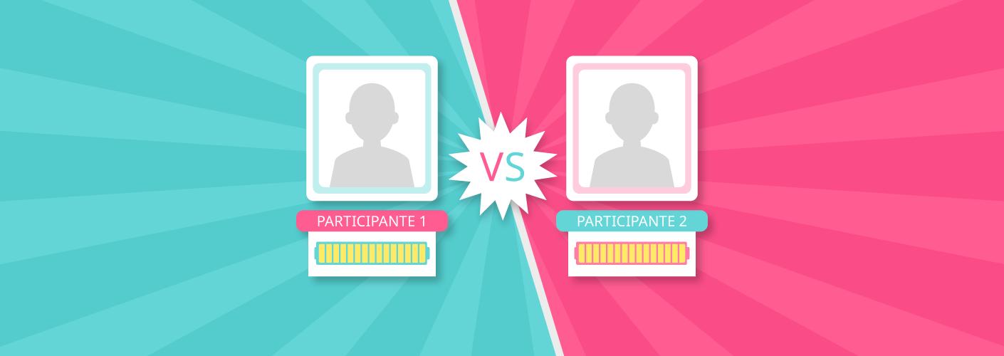 imagem de dois participantes ou colaboradores da empresa sendo engajados pela gamificacao