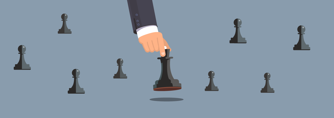imagem de uma pessoa jogando xadrez, representando o organizador de eventos fazendo o seu planejamento inicial no evento