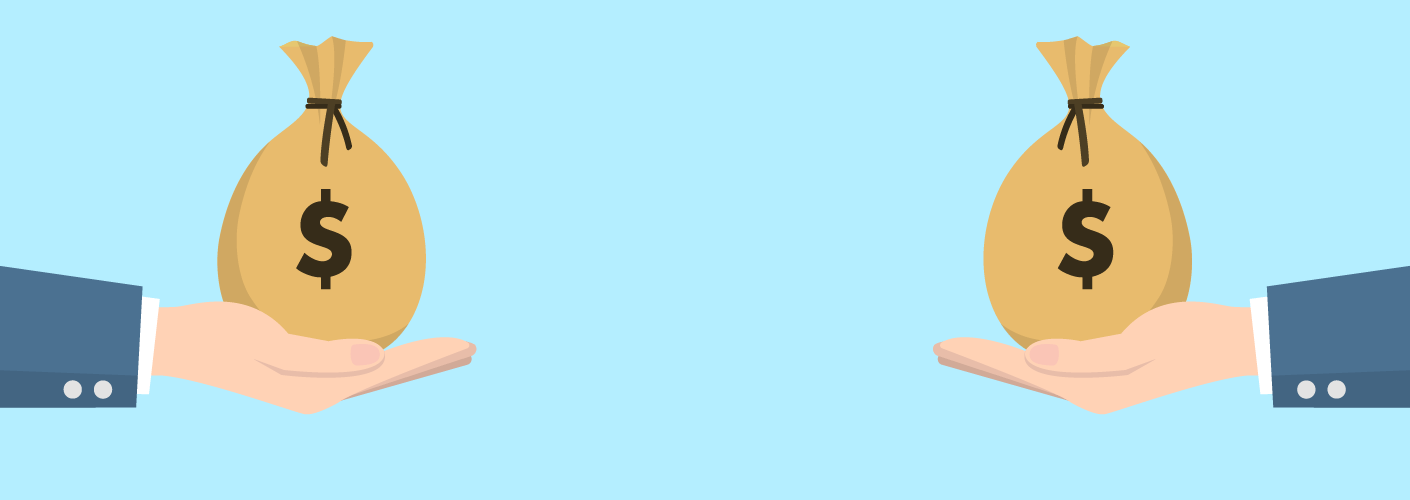 imagem de dois investidores para conseguir patrocinadores do evento