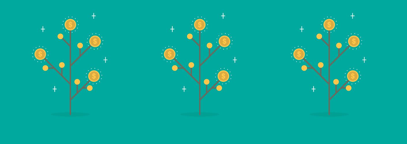 imagem de árvores de dinheiro representando o dinheiro dos patrocinadores em eventos