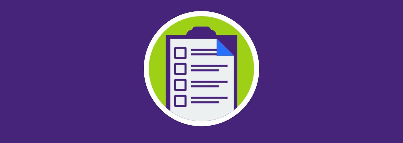 imagem de um checklist de um organizador de eventos