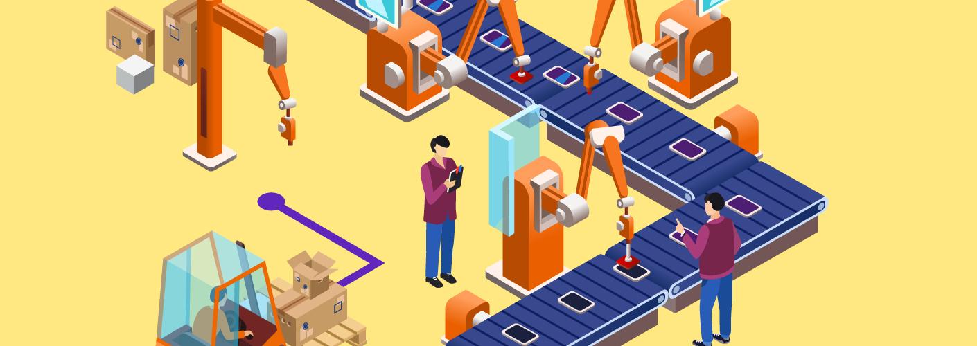imagem de uma fábrica simbolizando a organização de eventos e o engajamento de participantes