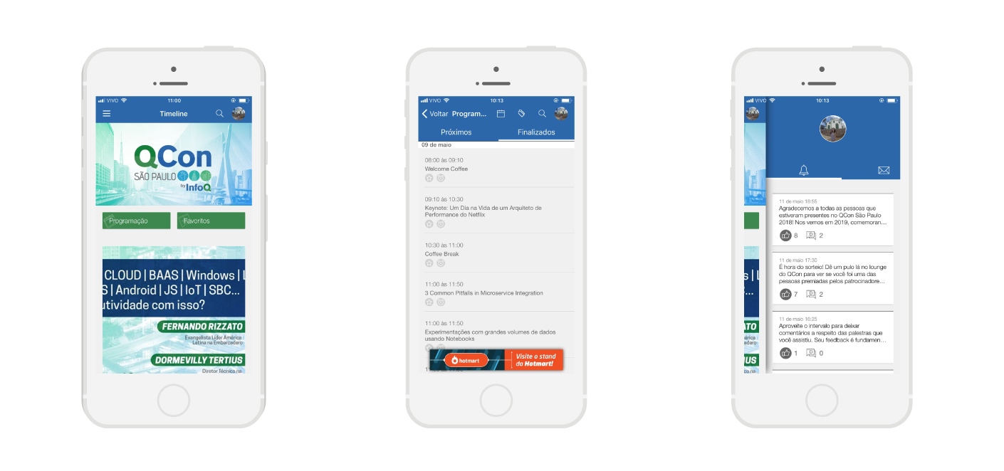 imagem do aplicativo utilizado pela QCon no utlimo evento deles em 2018