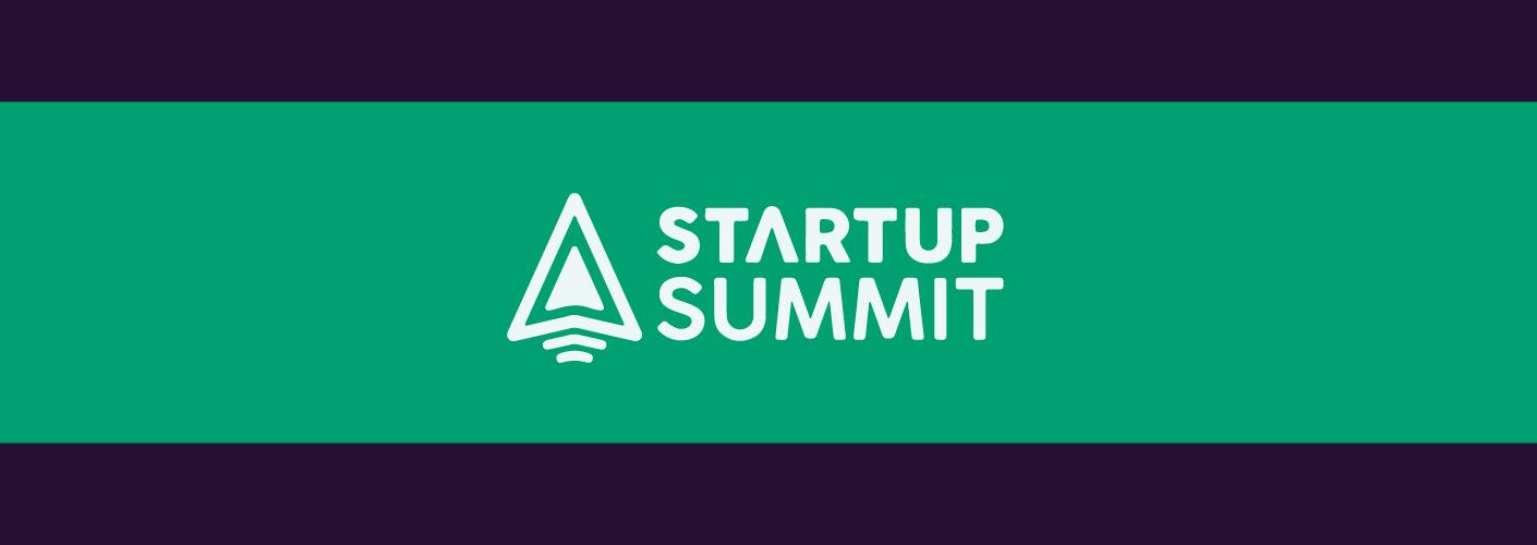 imagem com o logo e cores do startup summit sc