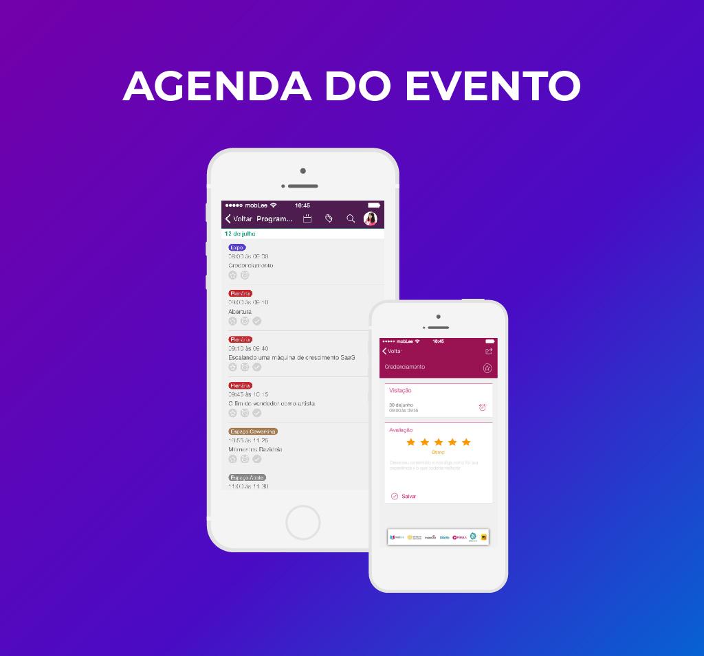 imagem da agenda do evento no app-100