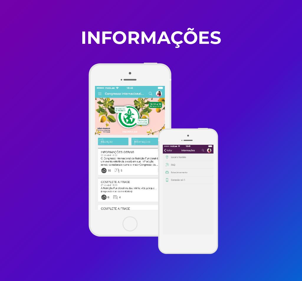 imagem das informações no app-100