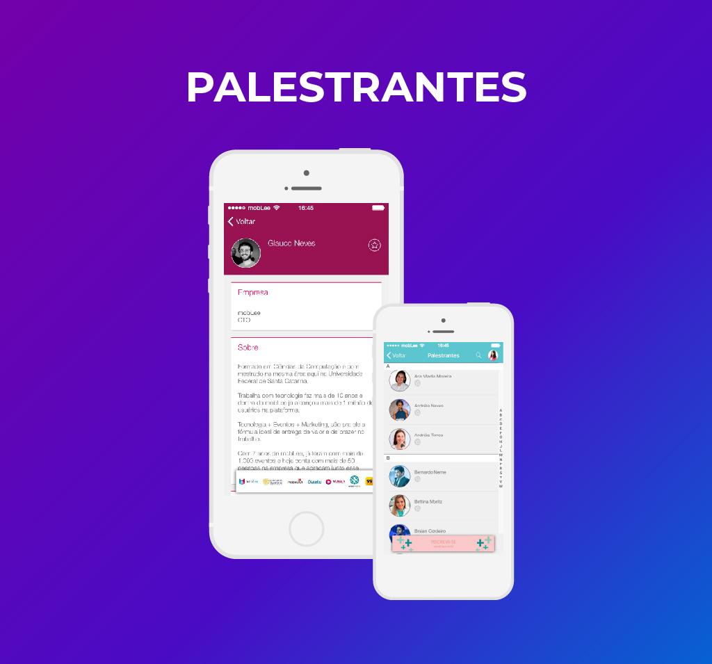 imagem dos palestrantes no app-100