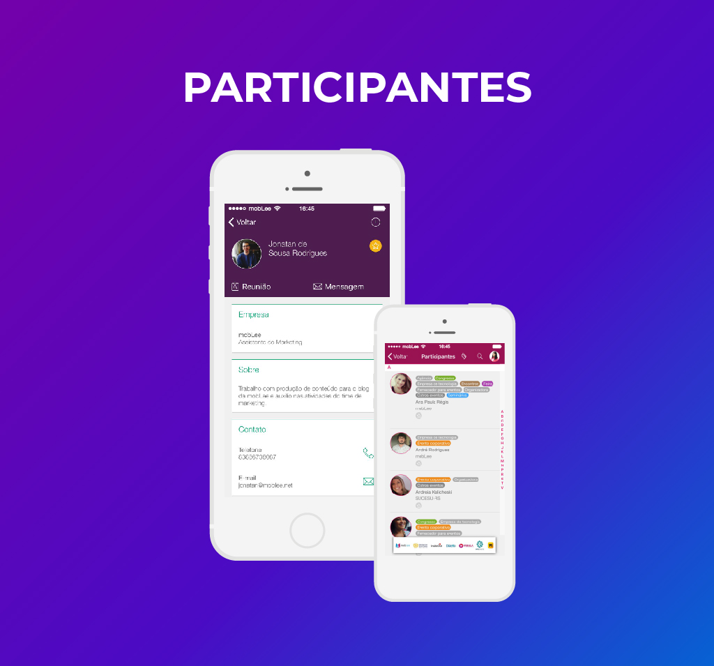 imagem dos participantes no app-100