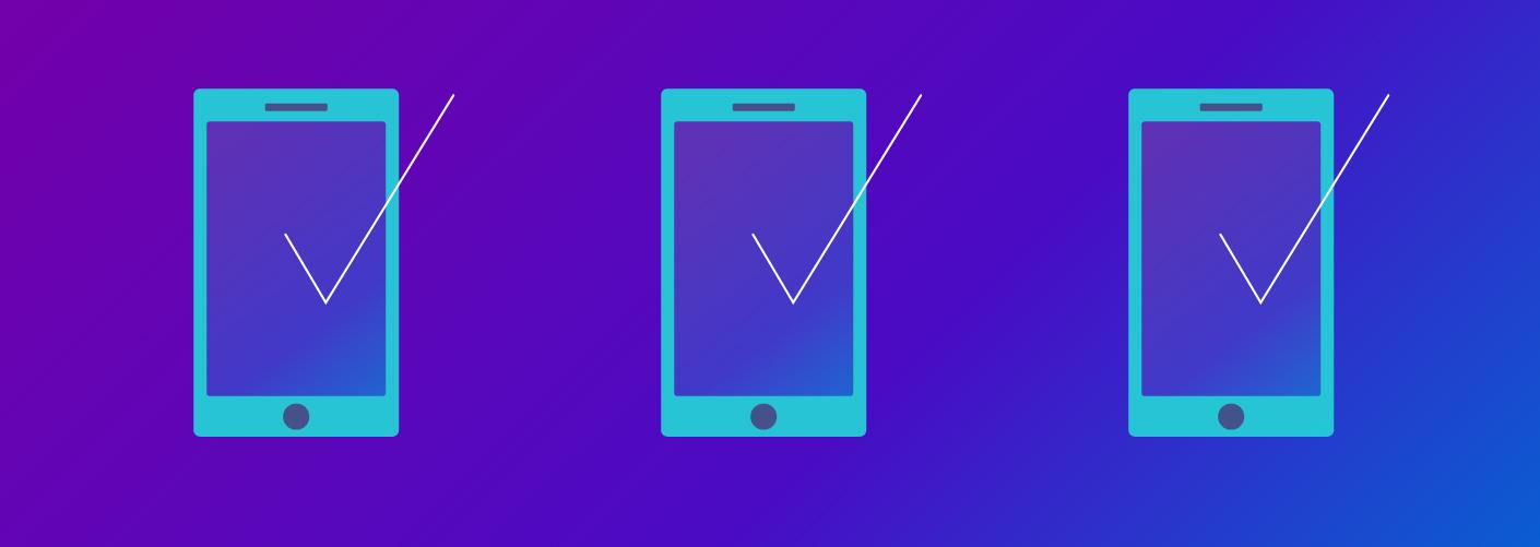 imagem com três aplicativos representando a jornada do app no evento