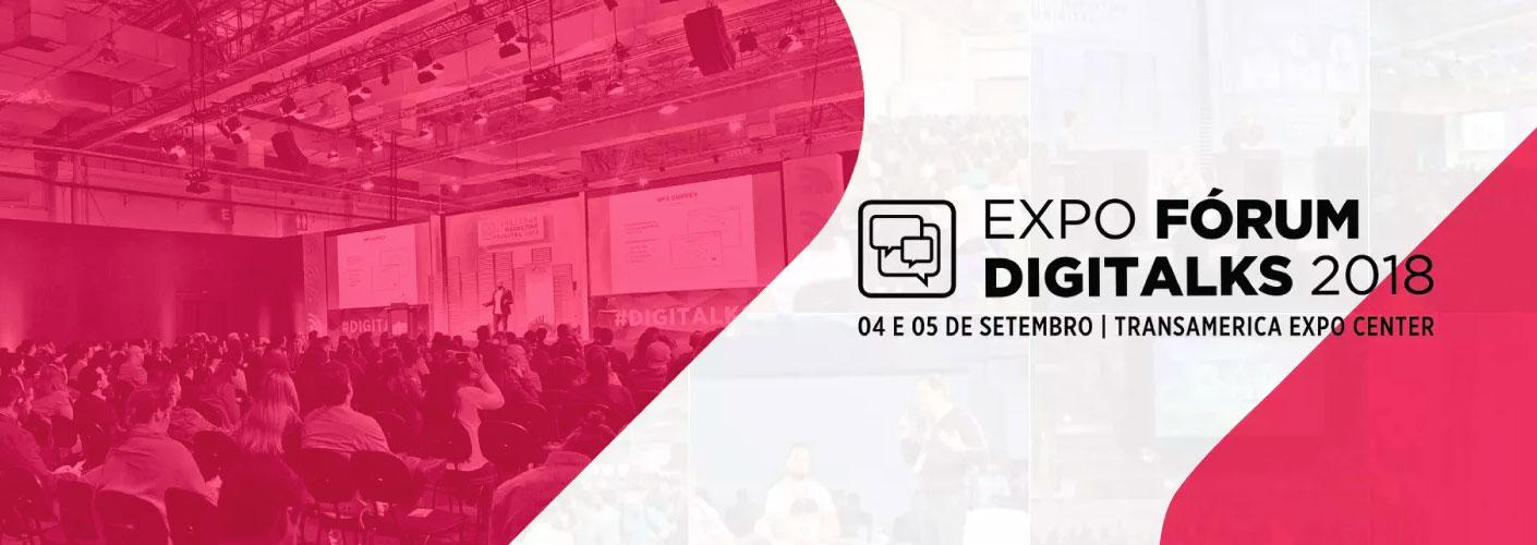 imagem de divulgação do evento expo fórum digitalks 2018