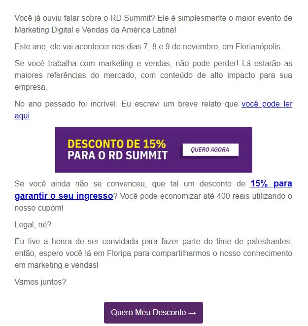 modelo de email RD Summit