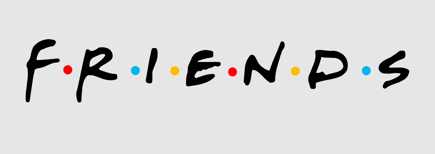 imagem do logo da serie ou seriado friends