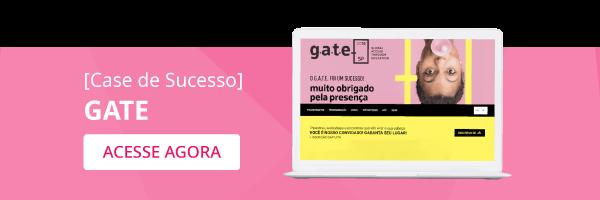 Banner para acessar o case de sucesso do evento GATE