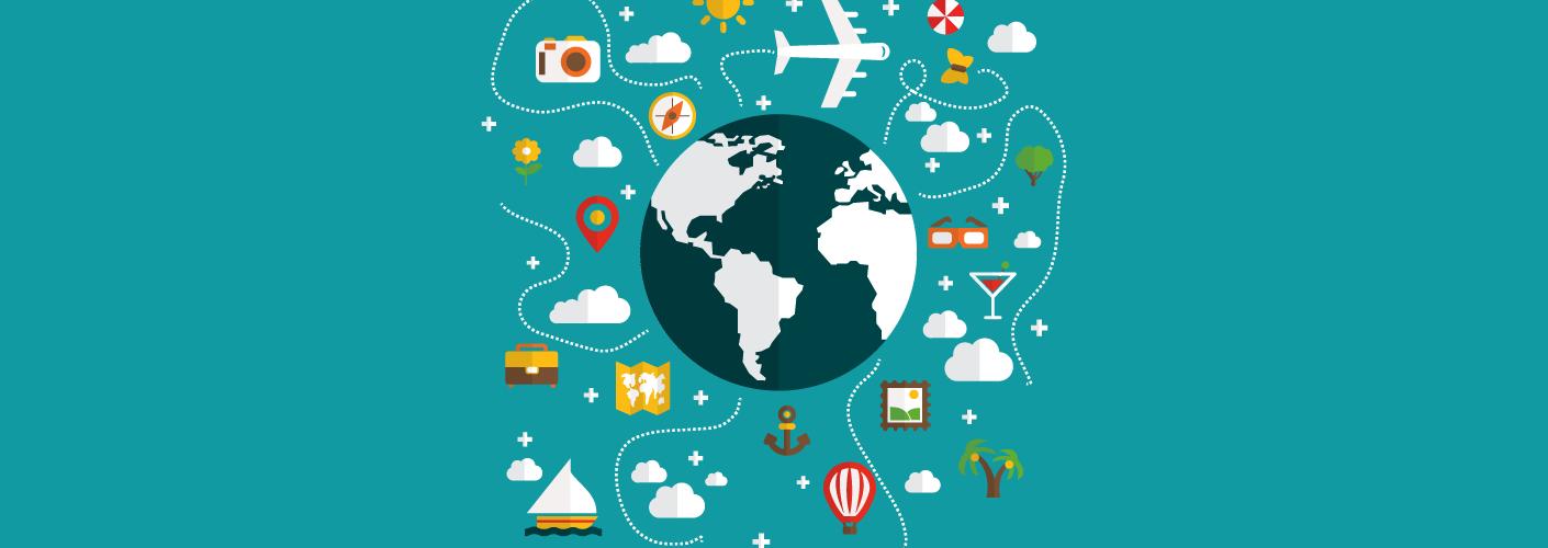 imagem representando um planeta terra e eventos internacionais