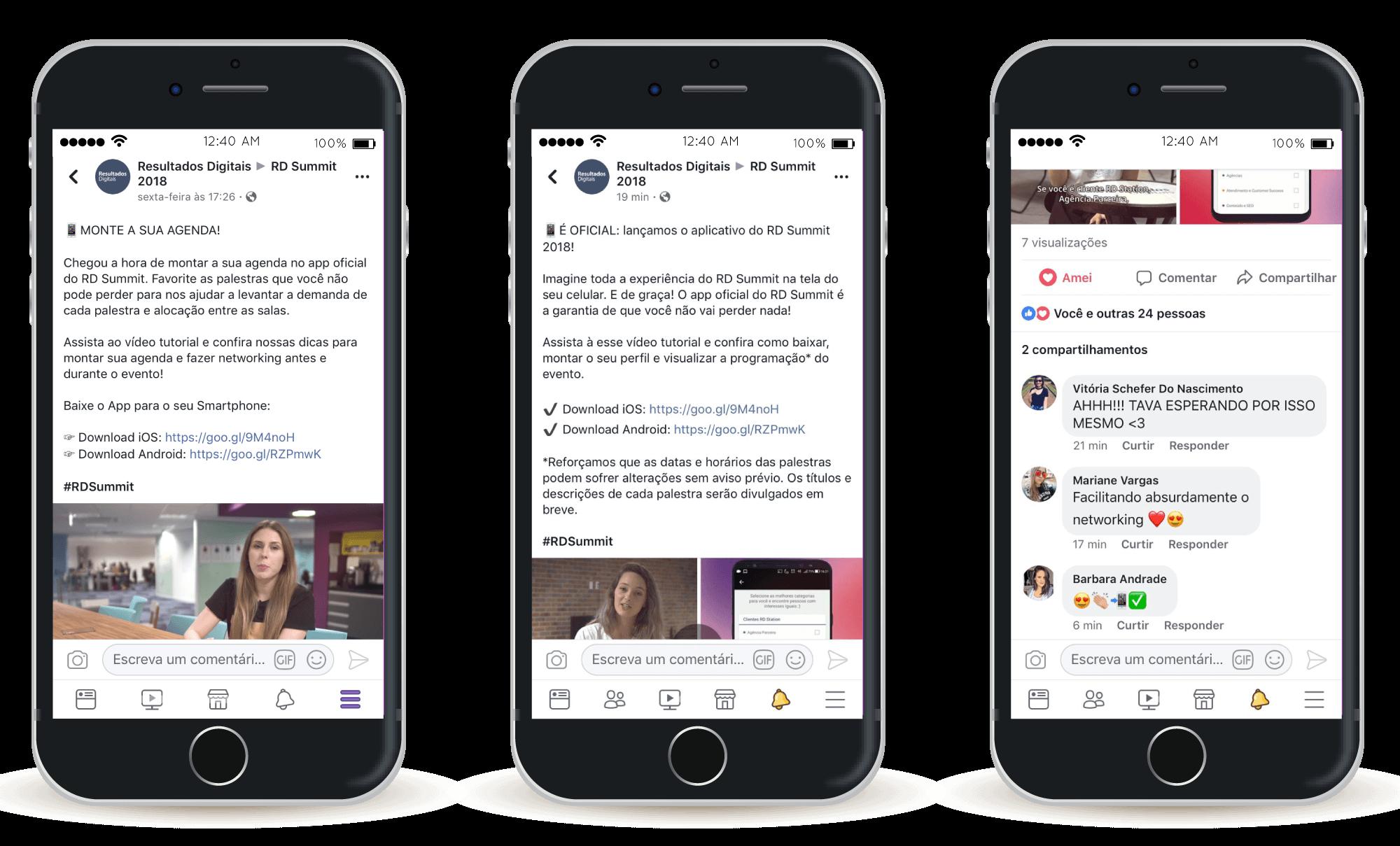 imagem-de-três-celulares-mostrando-publicações-da-resultados-digitais-no-facebook