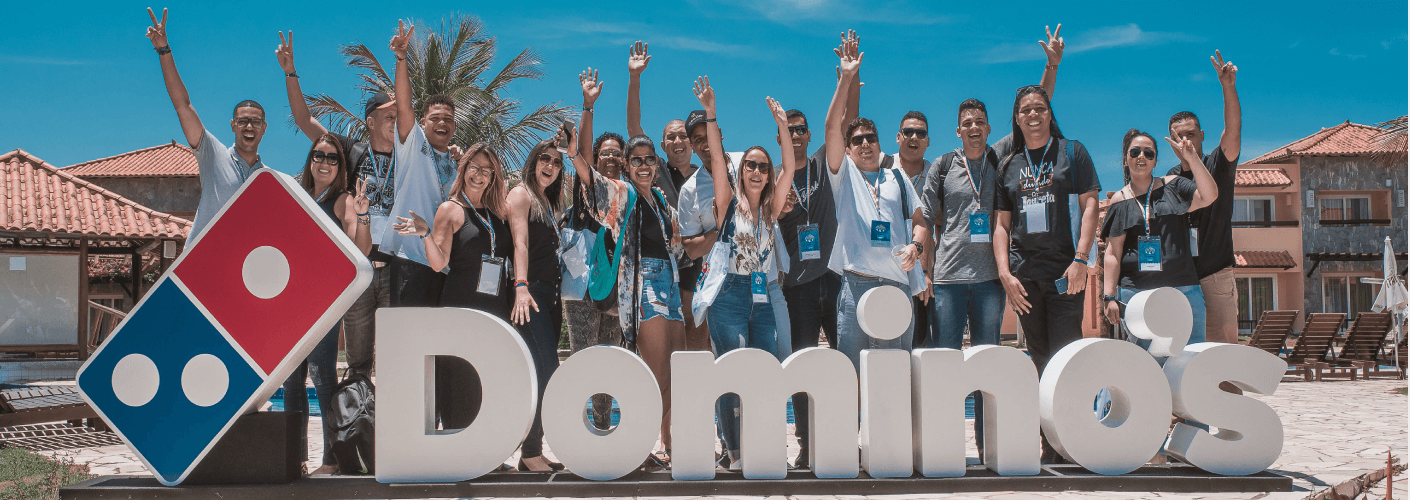 participantes da convenção domino's pizza