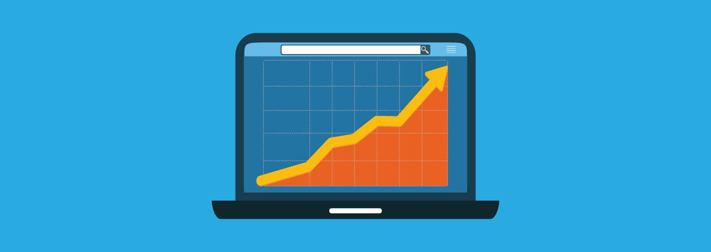 gráfico mostrando o crescimento ao criar seus próprios eventos