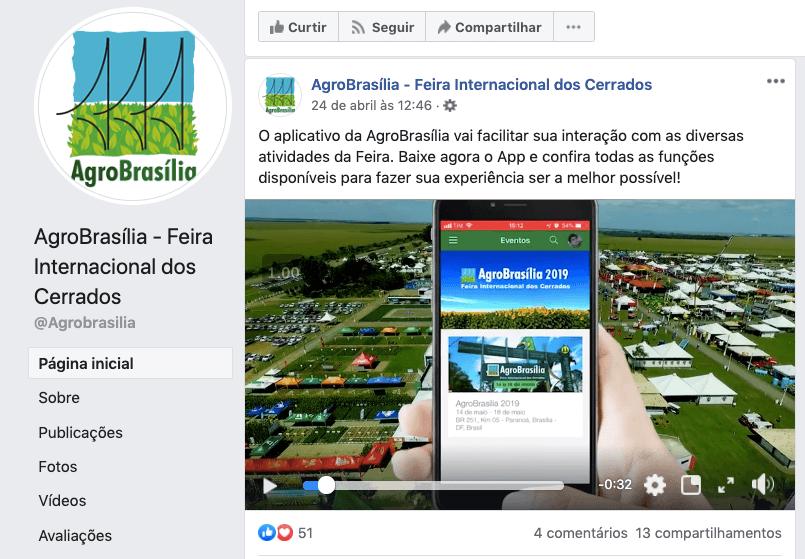 Divulgação do aplicativo AgroBrasília