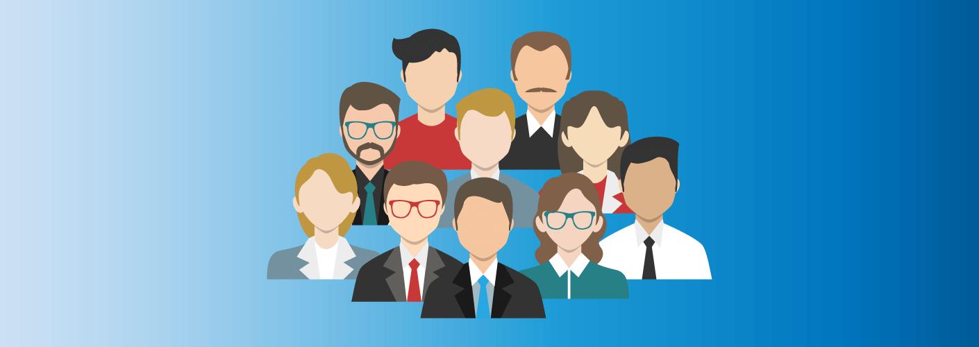 Imagem com um grupo de profissionais que representam a comissão de organização de eventos