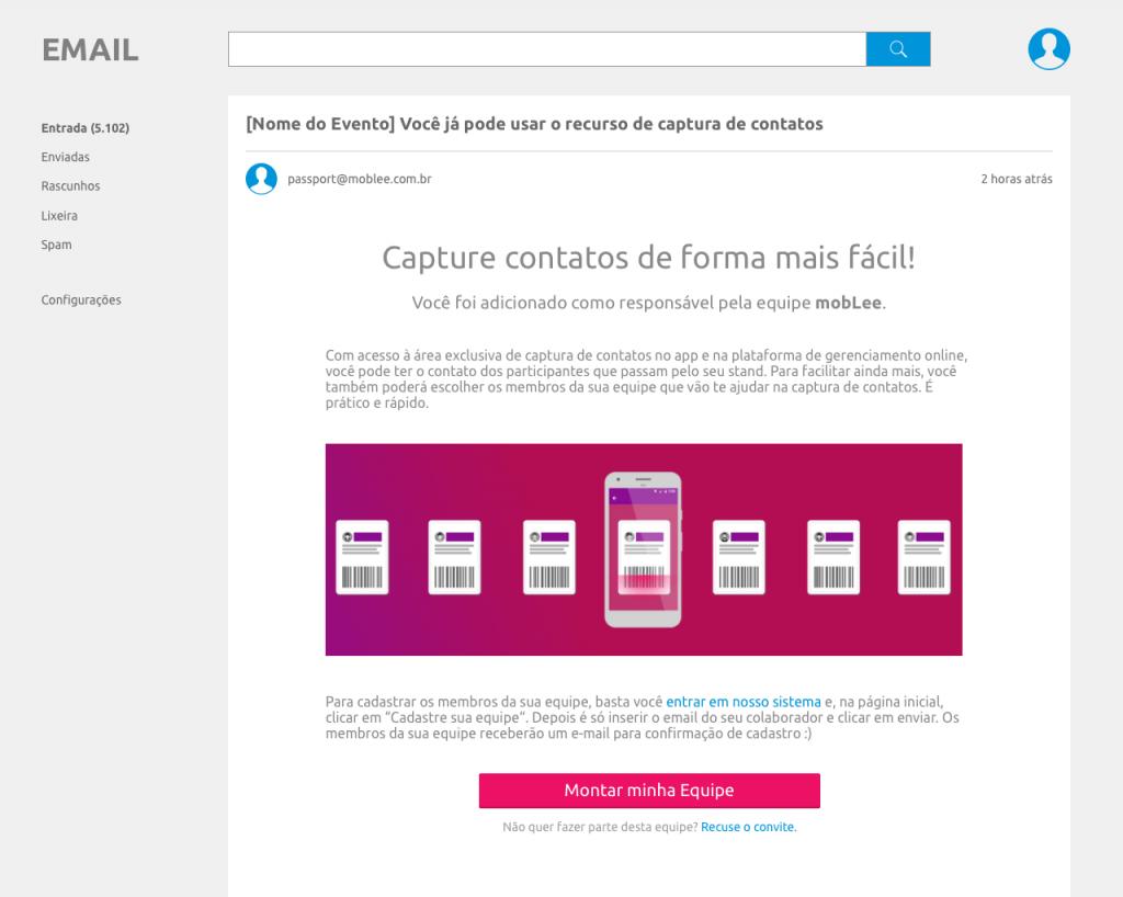 Modelo de email da plataforma mobLee