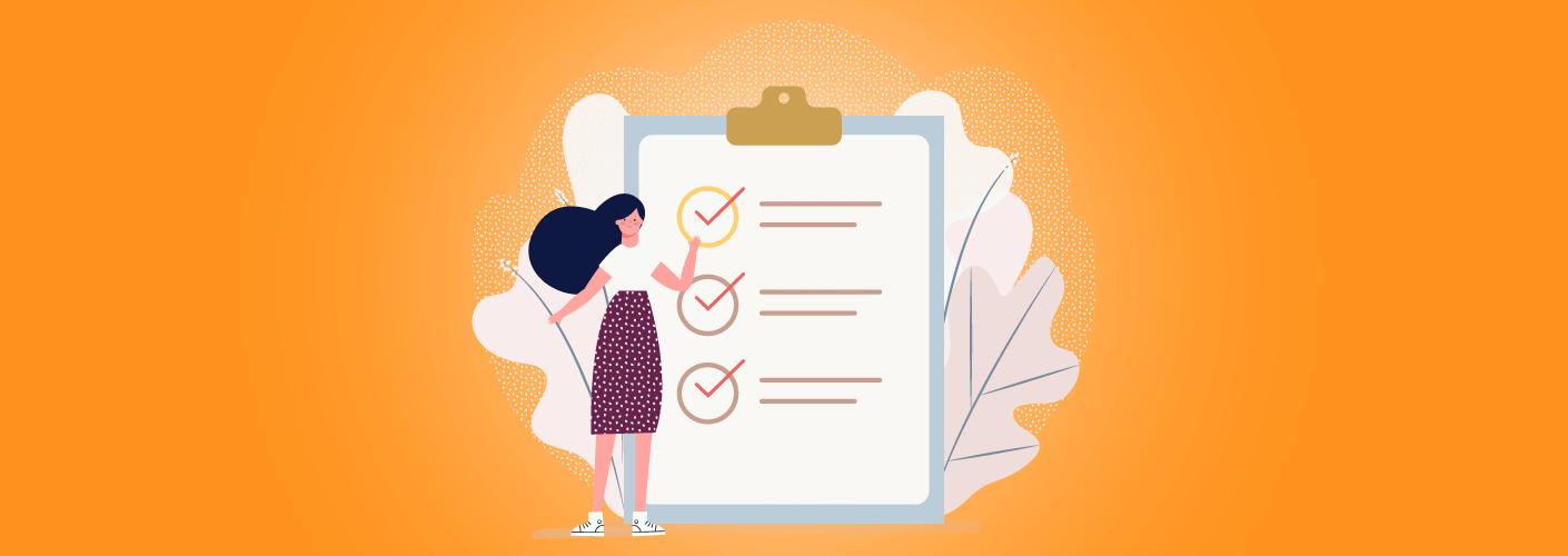 organizador com um checklist promovendo eventos