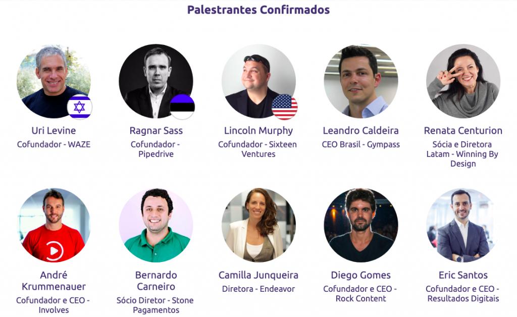 palestrantes do evento Startup Summit 2019