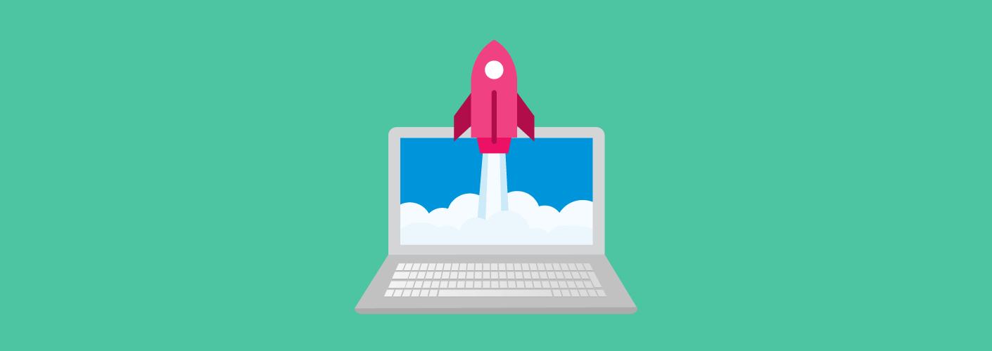 O foguete levantando voo para representar as tendências para empresas do futuro