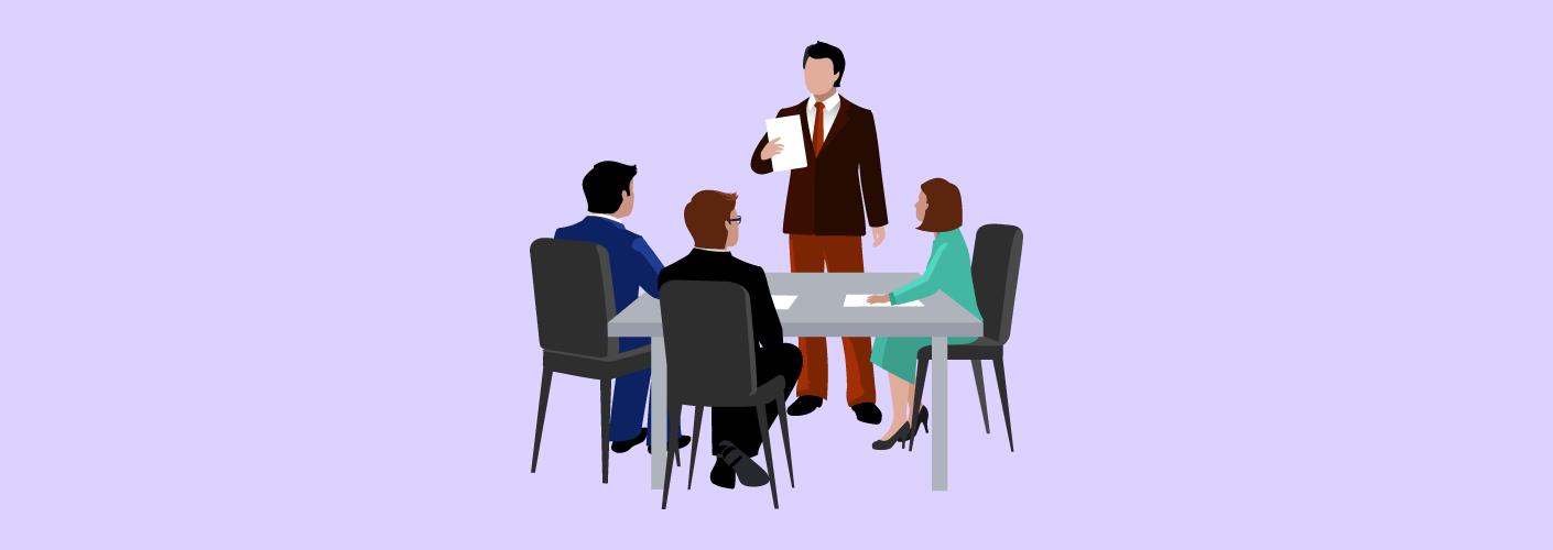 Reunião para organizar o evento com profissionais experientes