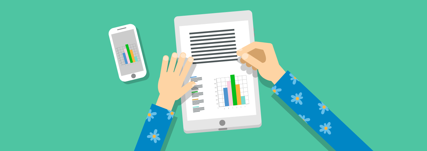 Organizador de eventos avaliando as métricas de desempenho que vai passar para os expositores