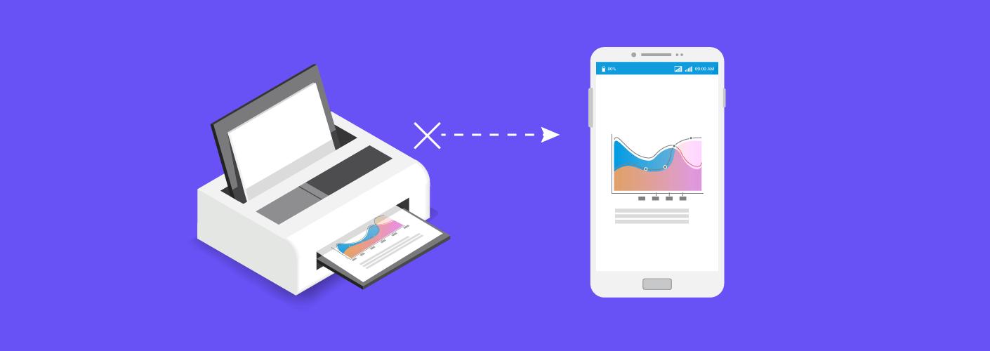 Imagem que mostra como o material impresso em congressos pode ser substituído pelas funções do aplicativo