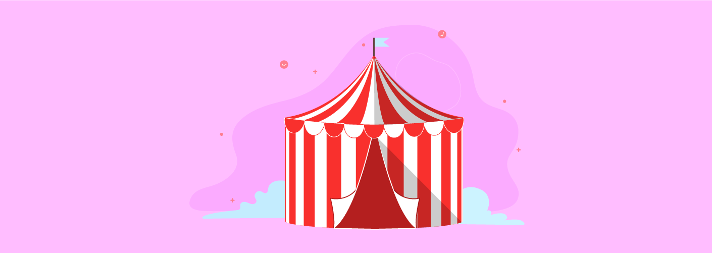 Exemplo de tendas em eventos