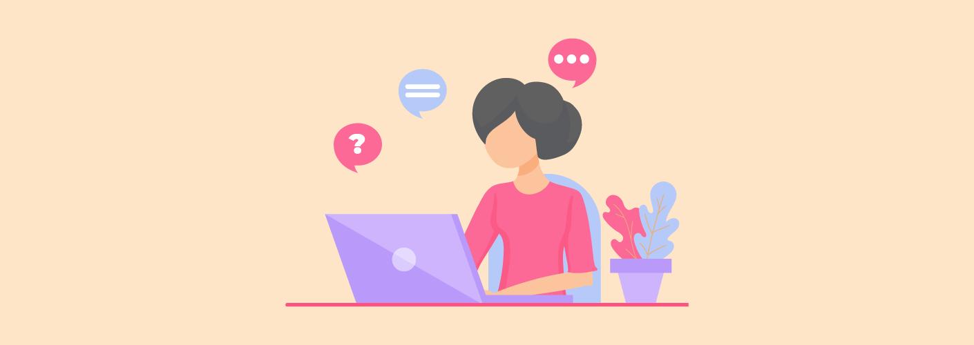 Organizadora de eventos falando com o público virtualmente na era do customer experience