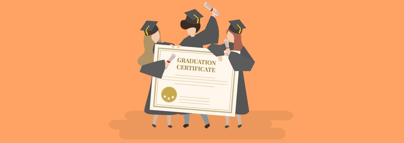 Profissionais recebendo seu certificado de conclusão da pós-graduação em eventos