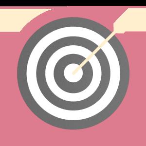 imagem de um alvo representando o marketing