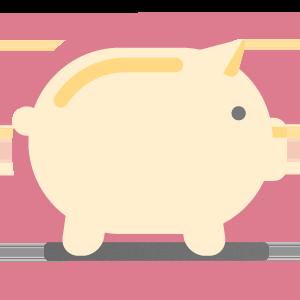 imagem de um cofrinho representando o investimento e dinheiro do evento